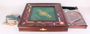 Wooden Monopoly Board Game A limited edition deluxe Monopoly game the board is a wooden 50