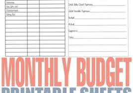 Monthly Bills Worksheet Home Finance Spreadsheet Budget Planner ...