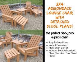 2 x 4 adirondack lounge chair plans