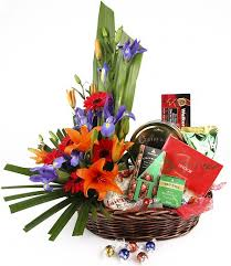 chocolate plere sweet and savoury basket