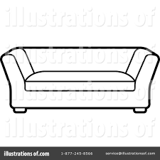 sofa clipart. royalty-free (rf) couch clipart illustration #1239026 by lal perera sofa
