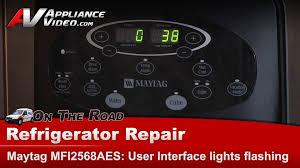 refrigerator not cooling user interface display lights flashing maytag whirlpool kitchenaid you