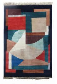 modern design hand knotted wool rug from india
