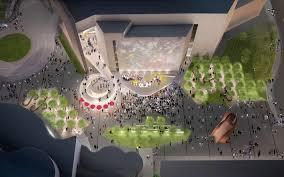 Design Dynamics Costa Mesa Michael Maltzan Architecture Designs Dynamic Public Plaza