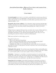 Journalism Cover Letter Format Shishita World Com