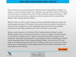 Vending Machine Sales Data Amazing Global Coffee Vending Machine Market Forecasts 48 Research N Rep