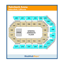 Rabobank Arena Seating Chart With Seat Numbers Mechanics Bank Arena Events And Concerts In Bakersfield
