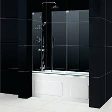 bathtub shower doors frameless mirage tub door frameless sliding glass tub shower doors