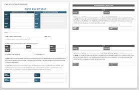 car bill of sale word 15 free bill of sale templates smartsheet