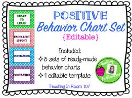 Positive Behavior Chart Set Editable