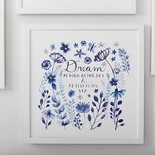 dream blue framed art by minted