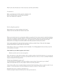 Template Follow Up Interview Letter Template Best Cover Letters For