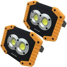 Battery Halogen Lights 2pcs Led Work Light Rechargeable With 6400mah Battery 2x Cob Light 20w 200w Equivalent Waterproof Led Flood Lights With Stand Led Work Lamp For
