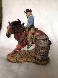 barrel race figurine horse room