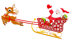 Santa and Reindeer with Sled PNG Clipart | Gallery Yopriceville -  High-Quality Images and Transparent PNG Free Clipart
