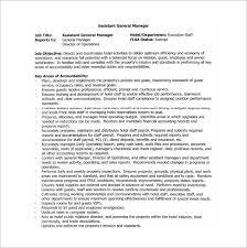 General Manager Job Description Template 9 Free Word Pdf Format