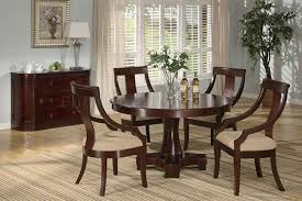 deep cherry finish classic dinning room w round dining table inside decor 14