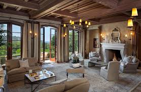 Amazing Living Room In Tuscan Style Home