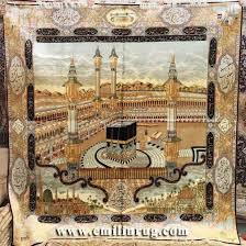 ic mosque mecca kaaba caaba handmade silk carpet persian tapestry wall hanging for muslim prayer
