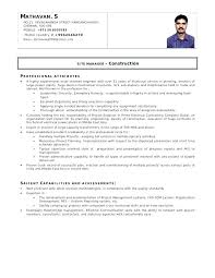 Best Sample Resume For Freshers Engineers Best Resume For Electrical Engineer Emelcotest Com