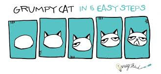 easy grumpy cat drawing. Exellent Easy 5EasySteps_GrumpyCat How To Draw Grumpy Cat In 5 Easy  Intended Drawing O