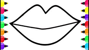 Small Picture Lips Coloring Pages How To Draw Lips And Get Big Kiss Coloring For