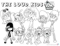 Loud House Coloring Pages Coloring Pages Best