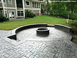 stamped concrete patio with raised backyard stamped concrete patio with raised backyard raised patio ideas raised