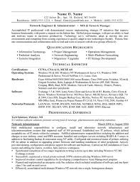 sample networking resumes