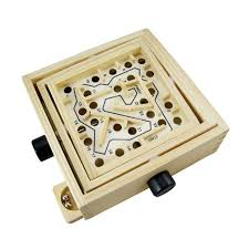 Wooden Box Board Games Mini Wooden Labyrinth Board Game Ball Maze Number Puzzle 62
