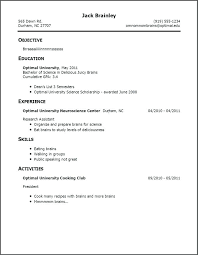 How To Make A Resume With No Job Experience Inspiration Resumes For No Job Experience 28 Standard Resume Basic Examples How
