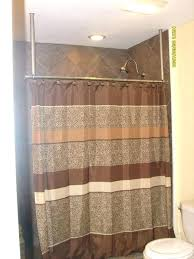 shower curtain rod height shower rod height how to build a ceiling mounted shower curtain hanger