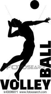 Volleyball Word Volleyball Word With Player Clipart K43598071 Fotosearch