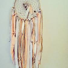 Dream Catcher Without Feathers Boho Chic Dreamcatcher Bohemian Neutral Colors Pinks Ribbon 35