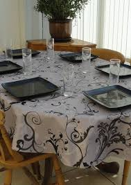 image of french country tablecloths oval