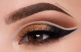 eye makeup for um brown eyes 4 gold eyeshadow