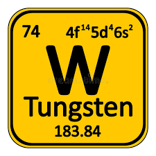 Periodic Table Element Tungsten Icon. Stock Illustration - Image ...