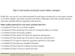 Top Real Estate Assistant Cover Letter Samples Art Galleries In Real