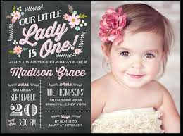Baby First Birthday Invitation Cards Baby Girl First Birthday