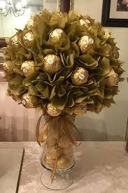 Ferrero Rocher Bouquet Designs Diy Ferrero Rocher Centerpiece Candy Centerpieces Candy