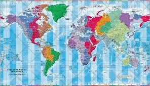 Time Zone Map Of The World Small By Cosmographics