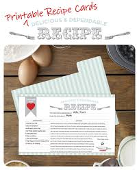 Free Printable Recipe Card And Dividers Good Housekeeping