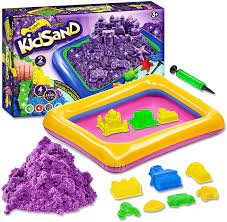 Amazon.com: Kidsand 3.5 lbs - Magic 4 Color Sand - 8 Shaping Molds for Play  Sand - Sand for Children Blue, Purple, Green, Orange - Kids Sand for Indoor  Playing - Sand