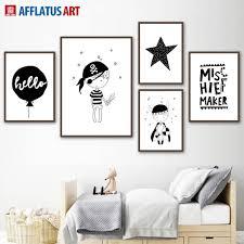 <b>AFFLATUS</b> Nordic Poster Black White Prince Pirates Wall Art ...