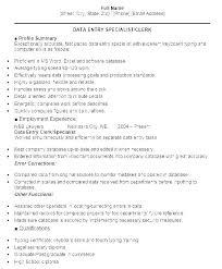 Data Entry Skills Resumes Sample Data Entry Resume Vitadance Me