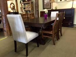 cool dining room table. Beautiful Cool Unique Look For Your Dining Room Rafters Trestle Table With  Upholstered And Mini Contour Chairs Throughout Cool Room