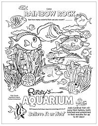 Aquarium Coloring Page