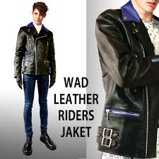 high grade cow leather wad original riders jacket w jean cowhide outerwear leather jacket leather jean punk rock fashion mens leather black black riders