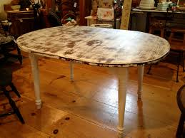 Round Distressed Dining Table - Distressed dining room table and chairs
