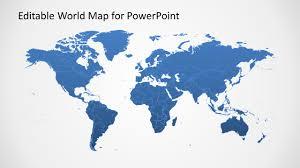 Powerpoint World Editable Worldmap For Powerpoint